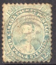 Colony of Canada: 1859 QVI 12?c. SG 41 used