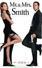 MR. AND MRS. SMITH MOVIE POSTER Original 27x40 ANGELINA JOLIE BRAD PITT MR MRS