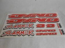 DYNO Slammer  BMX BIKE Bicycle Decals Set Red Stickers