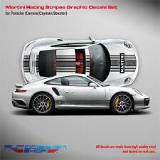 Martini Racing stripes for Porsche Carrera / Cayman / Boxster Grayscale
