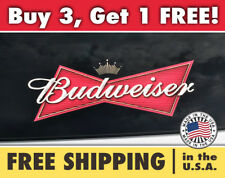 BUDWEISER Bumper Sticker Decal, Budweiser Beer Logo for Car, Wall or Window