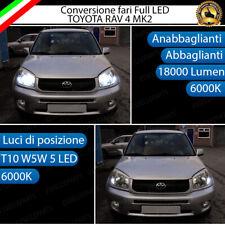 CONVERSIONE FARI LED TOYOTA RAV4 RAV 4 MK2 KIT LED H4 + LED POSIZIONE T10 6000K