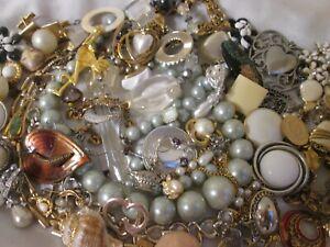 Vintage Jewelry Junk Drawer Craft Lot