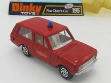 DINKY TOYS 195 FIRE CHIEF'S CAR RANGE ROVER opening doors,bonnet & boot ORIGINAL