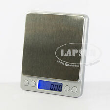 500g x 0.01g Electronic Digital Tare Jewel Scale Weighing Balance High Precision
