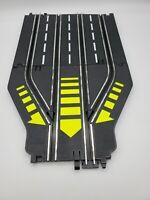 Vintage ARTIN 1/43 Slot Car Track 4 Lane To 2 Lane Return Track 2 Pieces