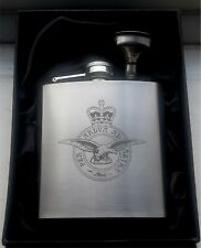 Royal Air Force 6oz Engraved Hip Flask in presentation box