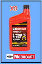 8 X Quarts OEM FORD Premium Synthetic Blend Motor Oil Motorcraft SAE 0W20/5W20