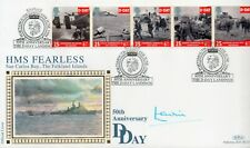 1994 BENHAM  D-DAY LANDINGS SIGNED LEWIN OFFICIAL HMS FEARLESS FDC