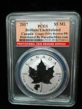 2017 1oz .9999 Fine Silver Canada Maple Cougar Privy Reverse Proof PCGS BU