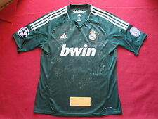REAL MADRID 14 HAND SIGNED 2012-13 LEAGUE AWAY SHIRT- NEW - PHOTO PROOF RONALDO