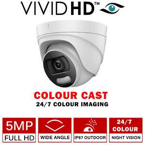 CCTV CAMERA COLOUR CAST VU 5MP 4IN1 5 MP FULL HD 20M COLOUR AT NIGHT DOME WHITE
