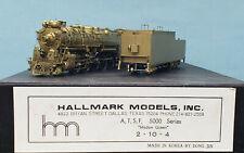Hallmark - Brass HO Scale - Santa Fe 2-10-4 Madam Queen
