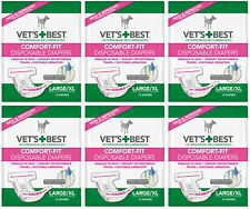 Vet's Best Diapers, Female Dogs, Large/X-Large, 12ct, 6 Pack