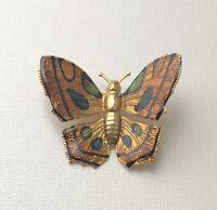 Vintage Butterfly Brooch Pin enamel on Metal