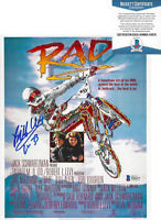 BILL ALLEN SIGNED 'RAD' CRU JONES 8x10 MOVIE POSTER PHOTO PROOF BECKETT BAS COA