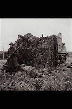 Letrero De Metal 507060 Gunner en guardia sobre el día D Francia 1944 Bell DND Pa 131440 A4 12x