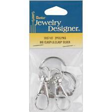 Darice Silver Metal Findings Clasps 2/Pkg silver Small Opening Schlüsselringe
