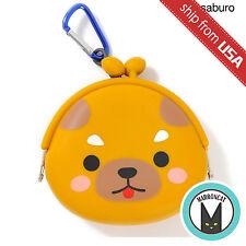 Mameshiba San Kyodai Dog Silicone Coin Case Bag Purse Puppy Japan Kawaii Cute