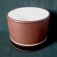 HORNSEA CONTRAST SUGAR BOWL EARTHENWARE TEA SET SUGAR BASIN BROWN AND WHITE