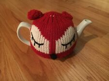 Pier One Teapot with Fox Tea Cozy, Gently Used