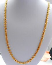 Real looking 22 ct gold plated set - Indian Chain  fashion Necklace 30in lenght