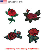 Floral Embroidered Iron On Sew On Patches Rose Applique flower Embroidery badge