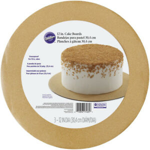 Wilton 3pk Round Glitter Party Cake Board for Icing Sugarcraft Decoration 12in