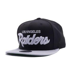 LA Los Angeles Vintage Raiders SCRIPT Snapback NFL Cap - Mitchell & Ness -2 Tone
