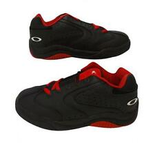 Nuevo Casual, Cuero madre OAKLEY Negro/Rojo Zapatillas Size UK 6,EUR 40
