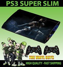 PLAYSTATION PS3 SUPER SLIM PRINCESS KITANA MORTAL KOMBAT SKIN STICKER + PAD SKIN