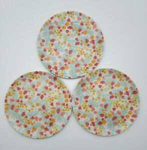 "Bamboo Fiber Melamine 6"" Appetizer Plates by Lucky Star (Set of 3)"