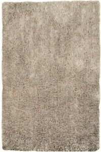 Diva Stone Beige Non Shed Soft Thick Fluffy Polyester Shaggy Living Room Rugs