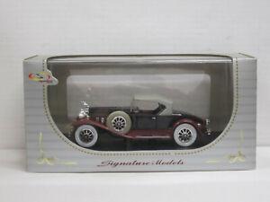 Hudson Cabrio 1930 in aubergine/rot, OVP mit Vitrine, Signature 1:32