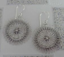 Solid Silver, 925 Balinese Filigree Design Earring 32105