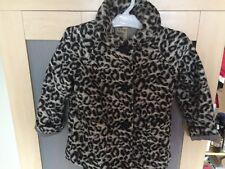 girls NEXT leopard print winters coat 5-6 years