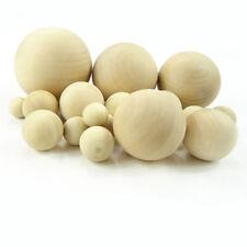 Natural Wooden Craft Wood Balls Sphere Round Craft Supplies 6mm to 75mm Diameter
