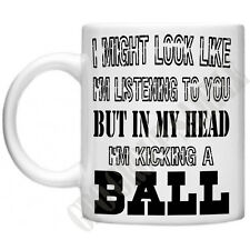 Football Footballers Soccer In My Head Novelty Funny Sports Gift 11oz Mug Gift