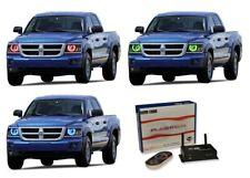 for Dodge Dakota 08-11 RGB Multi Color WIFI LED Halo kit for Headlights