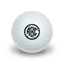 Personalized Custom Novelty Golf Balls 3 Pack - Monogram Circle Vine