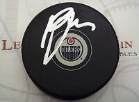 Ryan Jones Edmonton Oilers Signed Autographed NHL Logo Puck LOM COA