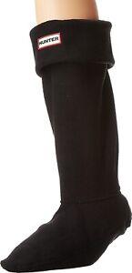 Hunter 240346 Womens Original Tall Fleece Welly Boot Socks Black Size Medium