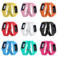 Practical Digital LCD Pedometer Calorie Counter Run Step Walking Bracelet Watch