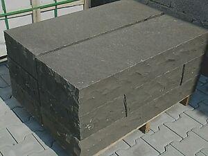 Basalt Blockstufen, Treppen geflammt, von 50 -200 cm. Länge, Tritt + Frostsicher