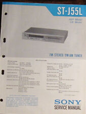 Sony ST-J55L tuner service repair workshop manual (original copy)