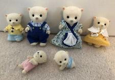 Sylvanian Family White Polaris Polar Bear Family & Twin Babies Excellent Cond