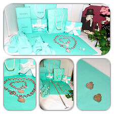 GORGEOUS-TIFFANY & CO. TOGGLE BRACELET, NECKLACE & HEART EARRING SET/LOT!