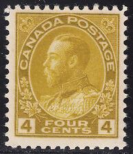 Canada 4c KGV Admiral, Scott 110b, F-VF MNH, catalogue - $138