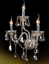 3 Arm Cognac Crystal Wall Lamp Wall fitting Bracket Light Sconce lamp Wall Light