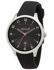 New Rip Curl ECHO BEACH Women's Wrist Watch Black A2915G 36mm Silicone Date #97